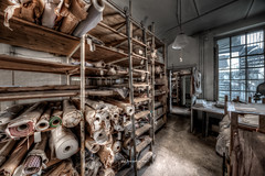 Fabric Stock (Fine Art Foto) Tags: urbex artfoto gestern dream wwwfineartfotocom urban exploration urbexart urbandecay lost place lostplaces lostplace decay decaying discard discarded old oblivion alt abandoned forgotten vergessen verlassen derelict aufgegeben rotten verottet näherei sewing factory fabrik wäschefabrik wäsche sony a7 riii sonya7riii