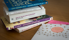 """""""Not this year..."""" (Ian Johnston LRPS) Tags: mothers day mum desk books card special indoors life"""