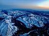 Sunrise over the Front Range (b737yyc) Tags: sunrise mountains rockies winter snow peaks glow valleys alberta