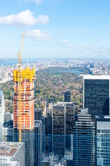 Top of the Rock (MikePScott) Tags: buildings builtenvironment camera centralpark clouds featureslandmarks lens manhattan newyork newyorkcity nikon2470mmf28 nikond600 rockefellercenter sky skyscraper topoftherock usa
