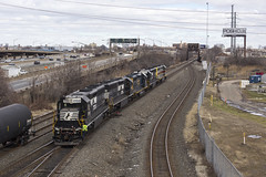 Four Pack (sully7302) Tags: norfolk southern sd452 emd erie lackawanna conrail shared assets bayway garden state secondary chemical coast cp ralph cnj central railroad new jersey elizabeth train pr32 csx gp402 1700 heritage unit 1701 7102 1703 transport industrial