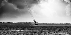 fammi volare (fiore_lla4ever) Tags: kite kitesurf let me fly again punta e trettu sardinia sud ovest canon eos 6d black white mistral flower