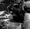 The onion seller (magiceye) Tags: onion seller streetportrait streetphoto mumbai india monochrome blackandwhite bnw