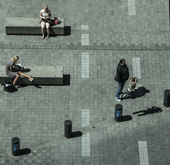 The leap (Ian@NZFlickr) Tags: lunch break shadows auckland