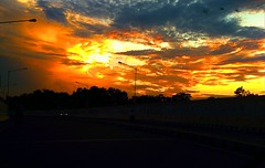 Sunset at Cross 21 (camaee29) Tags: sun sunset outdoor sky clouds dusk serene road calm orange city nature travel highway waves yureka patiala india photography evening ngc