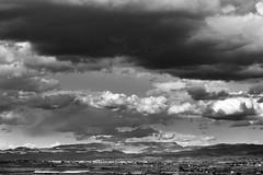 (PepaAston) Tags: ribera ebre miravet clouds sky blackandwhite landscape