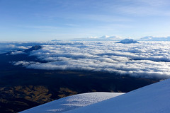 Peaks above the clouds (*Andrea B) Tags: cotopaxi cotopaxivolcano volcano volcan volcancotopaxi ecuador december 2017 december2017 christmas glacier national nationalpark parque alpine climb climbing peaks mountains mountaineering mo antisana cayambe