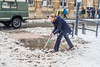 The Thaw and the Hard Work (Gerry Lynch) Tags: salisbury southwilts beastfromtheeast uksnow wiltshire