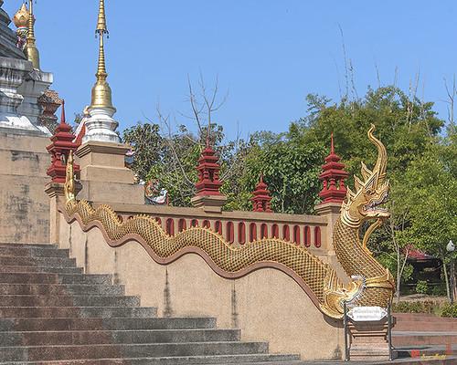 Wat Pa Neramit Mae Taeng Phra Chedi Makara and Naga (DTHCM2051) วัดป่าเนรมิตแม่แตง มกรและนาค พระเจดีย์