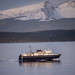 Alaska Marine Highway's m/v LeConte with Chilkat Range thumbnail
