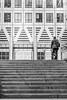 HSS! (deborahb0cch1) Tags: geometric building buildings architecture pattern diagonal monochrome blackandwhite noiretblanc glassandsteel windows london canarywharf stairs lines line people