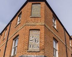 Try Geo Lumleys 2/6 tea (FlickrDelusions) Tags: oxford tamronsp1024mmf3545diii littleclarendonstreet vintage oxfordshire signs advertisement waltonstreet england unitedkingdom gb