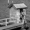Bathers part V (Leon Sammartino) Tags: sydneyxe3fujfilmfebruary201818135mm swimming swim beach man topless muscles grey monochrome boardshorts shorts