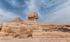 De perfil (Perurena) Tags: estatua piedra stone guizeh faraon rey desgaste erosion arena desierto desert sand piramide cielo sky nubes clouds guiza elcairo egipto