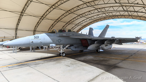 "Boeing EA-18G Growler of VX-9 ""Vampires"" from NAWS China Lake"