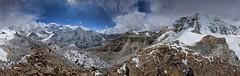 Panorama Drohmo Ri West (6080m) (Carsten Nebel www.MyHimalayas.com) Tags: kangchenjungatrekking northbasecamp 7902m 8505m 8586m kangbachen kangchenjunga mountain panorama twins wedgepeak yalung