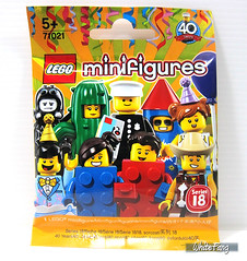 Front view of the Series 18 packet (WhiteFang (Eurobricks)) Tags: lego collectable minifigures series city town space castle medieval ancient god myth minifig distribution ninja history cmfs sports hobby medical animal pet occupation costume pirates maiden batman licensed dance disco service food hospital child children knights battle farm hero paris sparta historic brick kingdom party birthday fantasy dragon fabuland circus