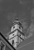 Uneven. But ever so slightly (auqanaj) Tags: kirche stmartin basilica amberg blackandwhite symmetrical symmetry unsymmetrisch symmetrisch architektur architecture himmel sky churchtower kirchturm