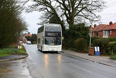 Headlights On (Chris Baines) Tags: suffolk norse enviro 400 holbrook 603 service yr63 zxj