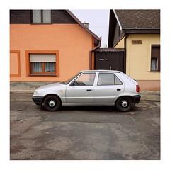 Silver Car (ngbrx) Tags: malacky slovakia slowakei slovensko car auto street strase houses häuser asphalt