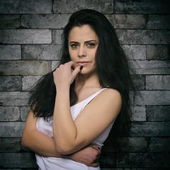 Danie (juergenberlin) Tags: portrait sexy eyes beauty woman girl long hair bruenette