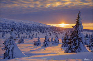 Winter Sunset on Hafjell, Norway