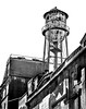 Water Tower, Brooklyn, New York (King Grecko) Tags: architecture bw brooklyn iconic nyc newyork nopeople oldfashioned us usa unitedstates americana arch blackandwhite dumbo highkey history old watertower whitebackground