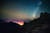 Roque de los Muchachos (free3yourmind) Tags: above city lights clouds cloudy mountains roque de los muchachos canary islands spain canarias milky way stars starry night nightsky