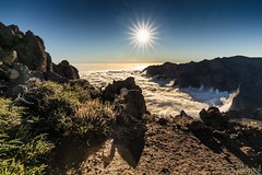 Above The Clouds (galvanol) Tags: canaryislands blue crater caldeiradetaburiente sun hiking afternoon mood lapalma sky light volcanism clouds