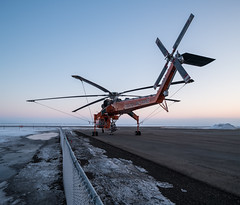 Blades (WherezJeff) Tags: erickson n163ac villeneuve airport dawn fog morning sikorsky skycrane calahoo alberta canada czvl bubba d850 tiltshift s64f helicopter