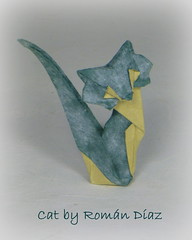 Cat by Román Díaz (Thomas Krapf Origami) Tags: cat katze roman diaz paper paperfolding origami papier papierfalten interpreters