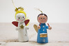 Two vintage wooden angel Christmas Tree Ornaments (ShebleyCL) Tags: ornament holidays celebration wooden nutcracker decorations vintage xmas christmas