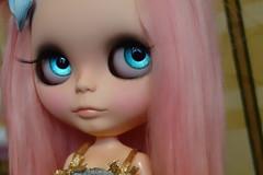 I wonder what she's thinking... (Primrose Princess) Tags: takara blythe doll ooakblythe pinkalpacareroot kaleidoscopekustoms customblythedoll pink princess vintagedress dollydreamland primroseprincess spoiled spoiledrotten