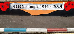 British Army Memorial, Londonderry, Northern Ireland (fromkin) Tags: protestant mural poppies 1914 2014 lest we forget british army memorial