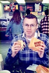 Kiwi Burger (CubOz) Tags: newzealand holiday tourist 1996 glacier fiordland rotorua geothermal mountains scenery