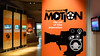 Experimental Motion The Art of Film Innovation exhibit with Blackbox-av Open Frame Video Screens