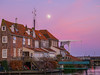 Pink/purple sunset (✦ Erdinc Ulas Photography ✦) Tags: purple pink sunset moon house netherlands holland dutch water traditional building panasonic landscape focus roof stone bricks bench bridge clouds houses enkhuizen nederland city old ancient window