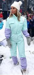 snowroller teal purple (skisuitguy) Tags: skisuit snowsuit ski snow suit skiing skifashion skiwear skioutfit skibunny snowbunny onepieceskisuit onepiecesuit onesie onepiece skianzug skidress allinone