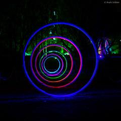 Circles of Light (1) (André Schlüter Photography) Tags: parkleuchten gruga grugapark essen nrw deutschland germany parkillumination nikon d850 nightshot nachtaufnahme dunkelheit illumination