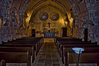 St. Bernard de Clairvaux Church, Ancient Spanish Monastery, 16711 West Dixie Highway, North Miami Beach, Florida, USA / Architectural Style: Romanesque Architecture