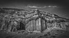 Mojave Wall (jwsmithphoto) Tags: california mojave desert bw monochrome canyon rockwall rockformations redrockcanyon