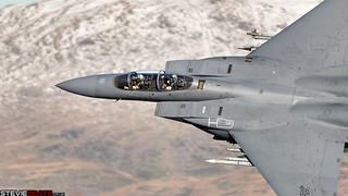 USAF F-15E Strike Eagle in the snow