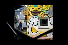 À travers la fenêtre (B.Guilbaud) Tags: opengraf arsmuralis streetart artistes graffeurs plasticiens colleurs oeuvreéphémère mouilleronlecaptif vendée paysdeloire intérieurextérieur àtravers fenêtre personne hôtelformule1 fr vue