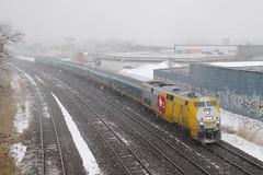 From 150 to 40 (Michael Berry Railfan) Tags: viarail via37 via904 montreal montrealwest quebec montrealsub train passengertrain renaissancecars ge generalelectric genesisseries p42dc