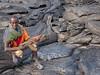 Soldier on Silver Lava (Fotografie mit Seele) Tags: ertaale danakildepression afar triangle volcano vulkan äthiopien ethiopia lava eruption red smoke liquid crust kruste pahoehoe
