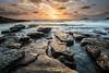 Here comes the sun (Rod Burgess) Tags: nsw southdurras newsouthwales australia au canoneos5dmarkiv canon1635mmf4l dawn sunrise rocks