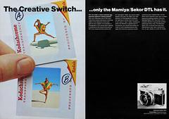 "Mamiya/Sekor DTL cameras advertisement. (Jerry Vacl) Tags: advertisement photomagazine 1969september""popularphotography""magazine camerasystem dtl mamiyasekordtl nikond7200 micronikkor40mmf28gdx kodak kodachrome colorslides slr"