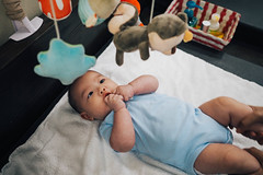 Changing time! (eekiem) Tags: diaper change toy baby girl daily 3mo olympus penf 17mm f18