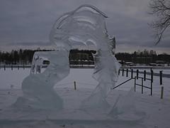 Ice sculpture (Päivi ♪♫) Tags: finland heinola jäätaide järvi lake snow winter march icesculpture