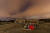 El bunker. (Amparo Hervella) Tags: comunidaddemadrid colmenardelarroyo españa spain noche nocturna lightpainting nube bunker estrella largaexposición d7000 nikon nikond7000